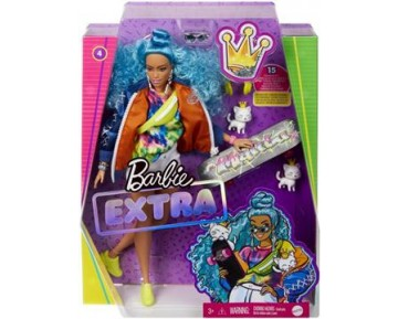 BARBIE EXTRA-BLUE CURLY HAIR