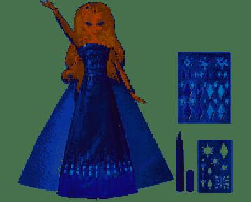 FROZEN DESIGN A DRESS