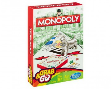 MONOPOLY GRQAB AND GO-TRAVEL
