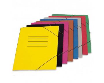 Ντοσιέ με λάστιχο πλαστικοποιημένο σε ποικλία 5 χρωμάτων 5-47-01 ΕΠΙΛΕΞΤΕ ΧΡΩΜΑ