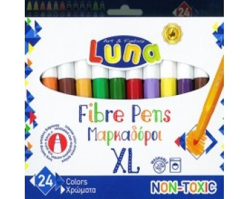 Μαρκαδόροι Χοντροί 24τεμ. Luna
