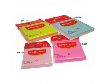 Αυτοκόλλητα χαρτάκια 7.6x7.6 3 χρωμάτων SO-141
